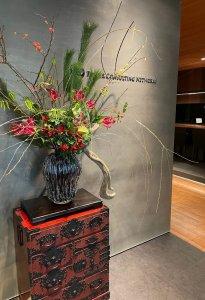 office-entrance-flower