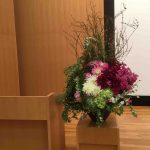 講演会の花